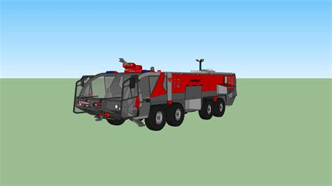 Rosenbauer Panther 8x8 with canon deployed   3D Warehouse