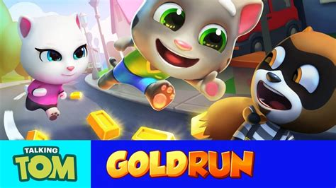 Join the non-stop running in Talking Tom Gold Run