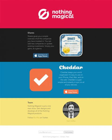 Nothing Magical products - Webdesign inspiration www