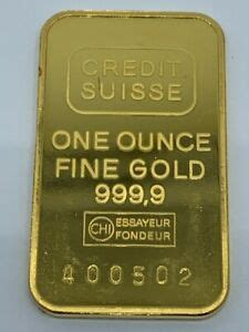 Credit Suisse One Ounce Fine Gold 999