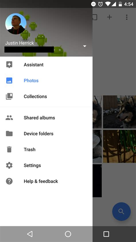 Backing up pictures and videos with Google Photos