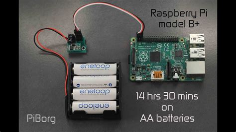 Battborg: Powering a Raspberry Pi from Batteries for 14