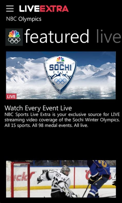 NBC Sports Live Extra delivers streaming sports content (US)